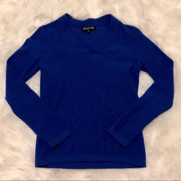 Jones New York Cashmere Royal Blue Sweater